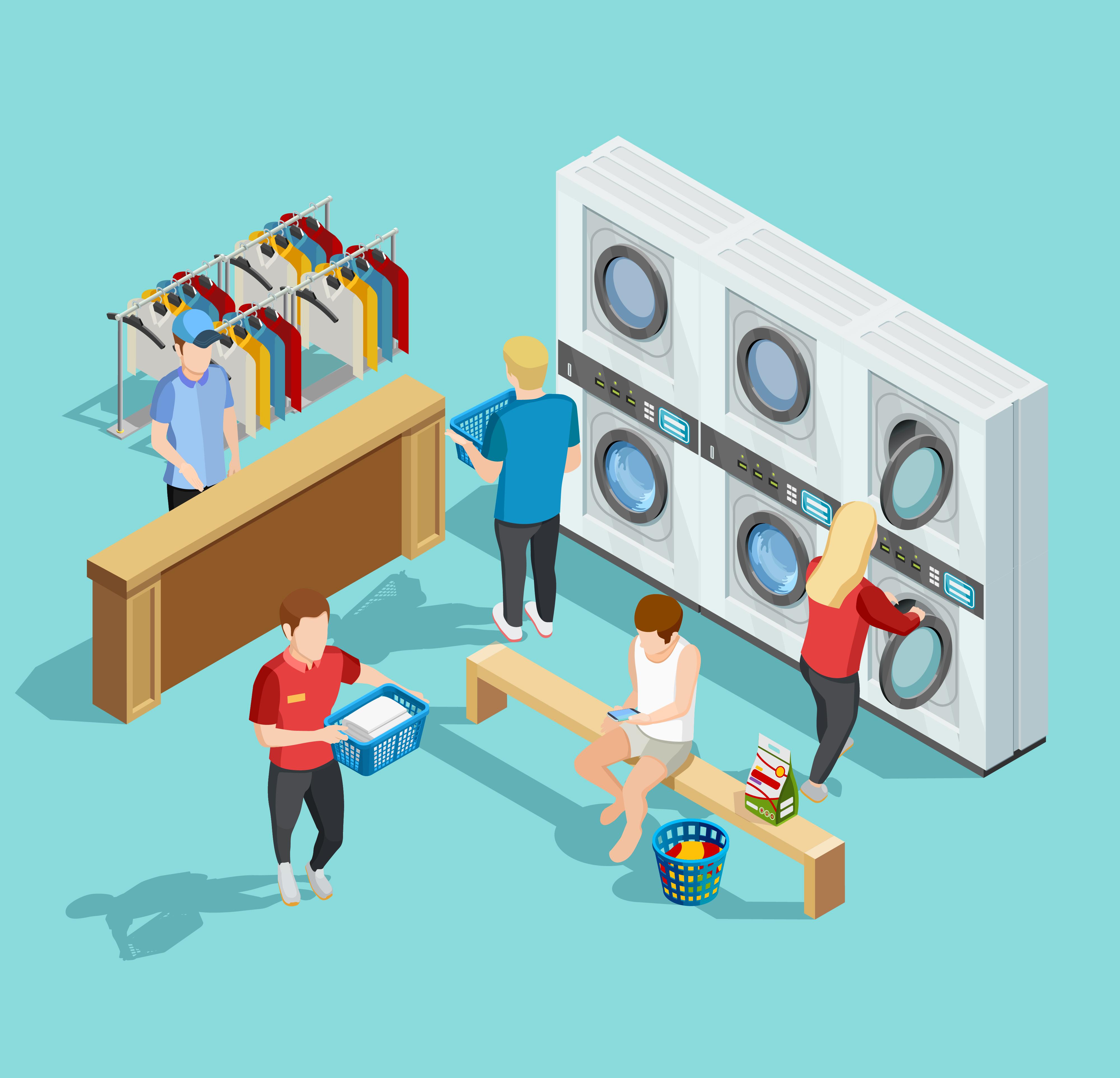 เครื่องซักผ้าขนาดใหญ่